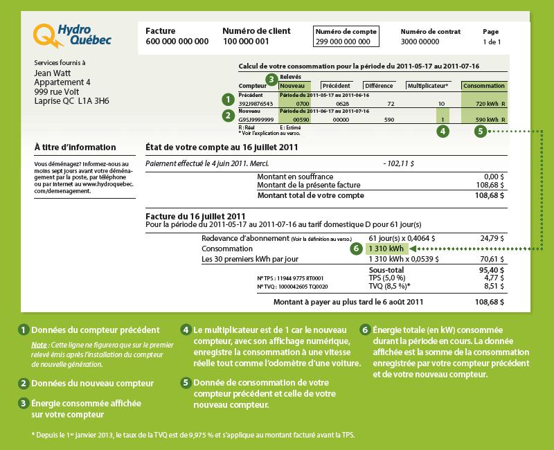 Exemple de facture hydro qu bec - Mon espace client la poste nouvelle livraison ...