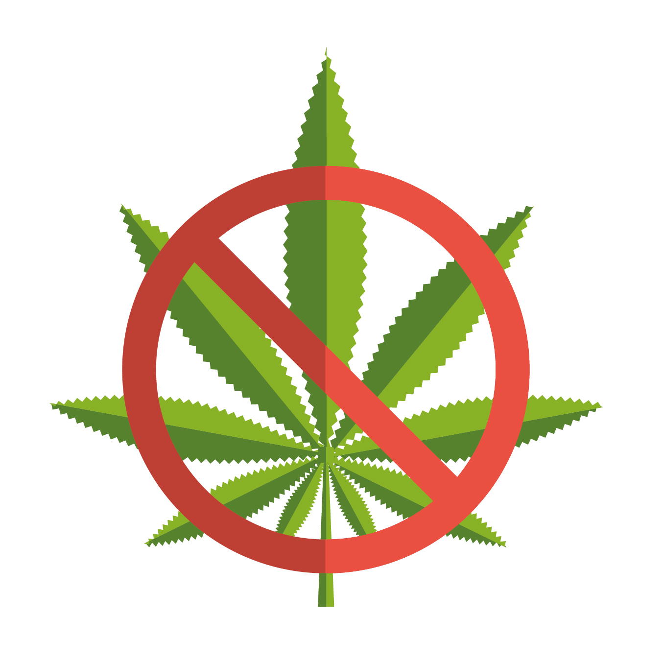 No cannabis symbol