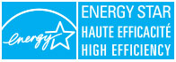 ENERGY STAR®, haute efficacité.