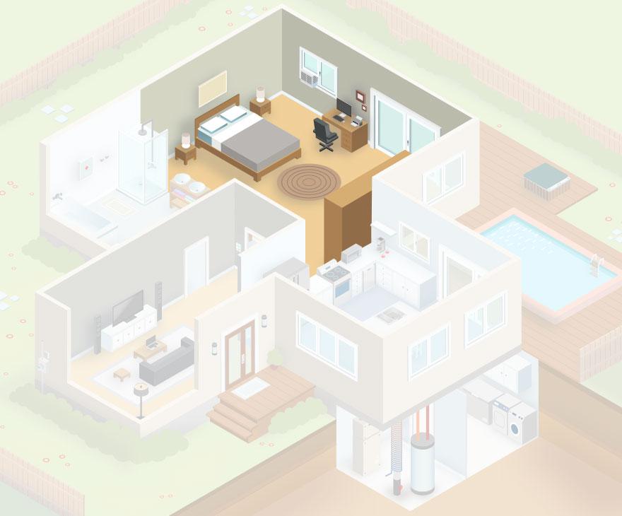 plan de maison interactive