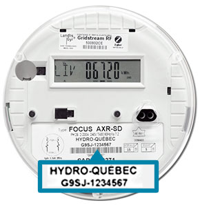 Find the meter number on an electronic meter
