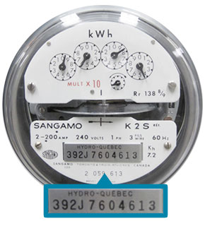 Find the meter number on a mechanical meter