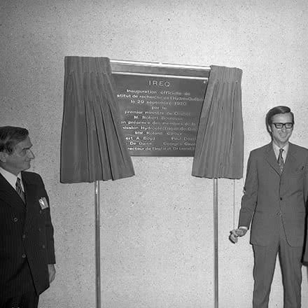 Inauguration du nouvel institut, 1970.