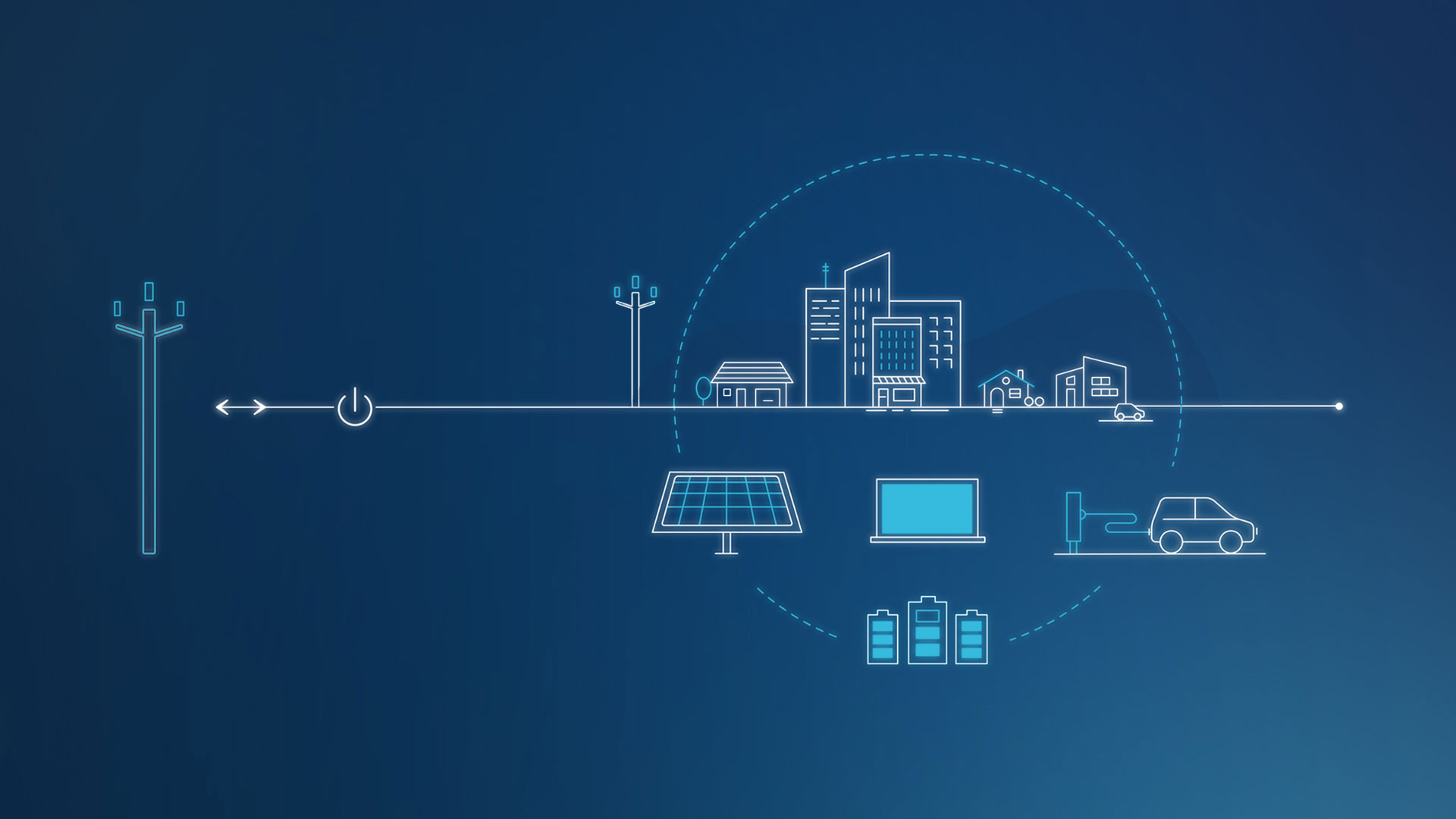 The microgrid will supply a neighborhood, in whole or in part, in parallel to the main grid.