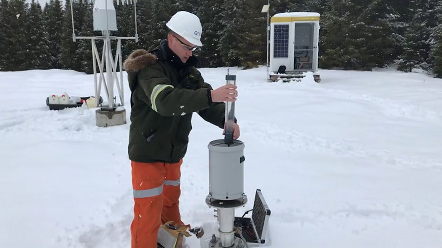 Monitoring and measuring of snow cover to anticipate flood levels.