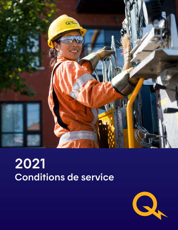 Image du document PDF des Conditions de service en vigueur depuis le 1er avril 2019